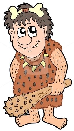 Cartoon prehistoric man stock vector.