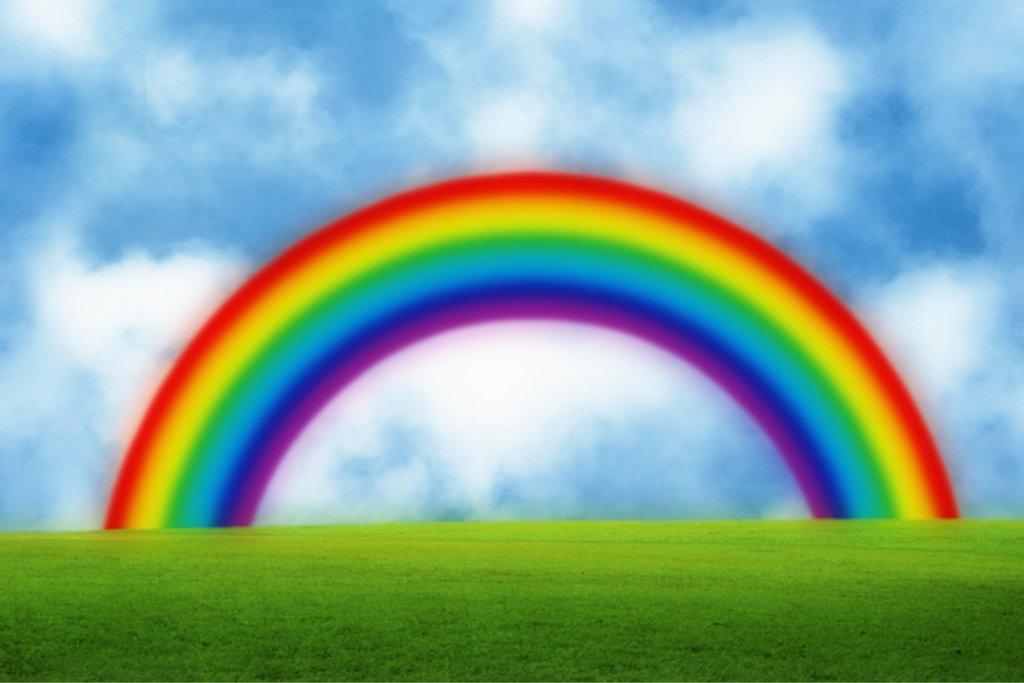 Rainbow Background Clipart.