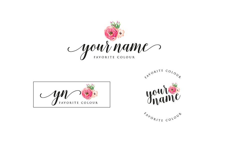Rose Premade Logo.