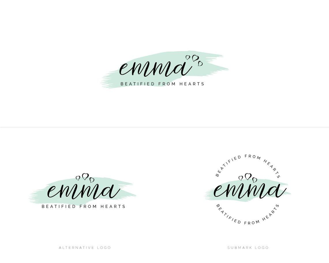 premade Logo design, photography logo, website logo, business logo, logo  branding design, watercolor logo, branding package, watermark logo.
