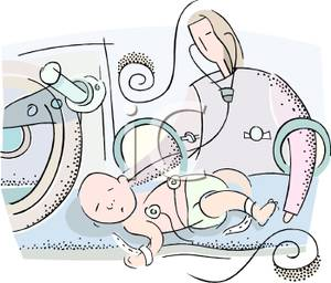 Nurse Checking a Preemie Baby In an Incubator.