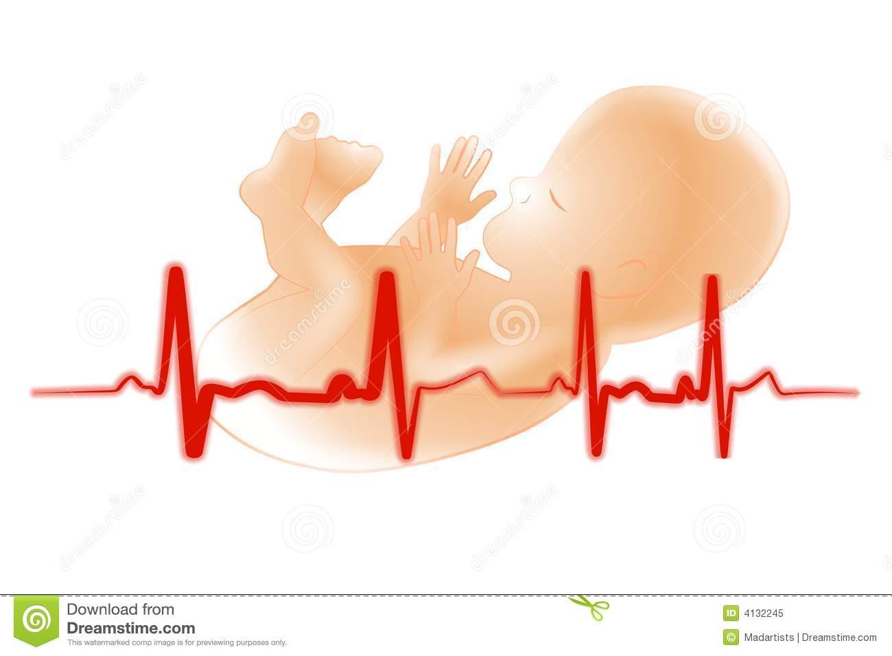 Premature Baby Fetus Electrocardiogram Royalty Free Stock Photo.