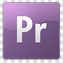 CS iKons Win, Adobe Premier logo transparent background PNG.