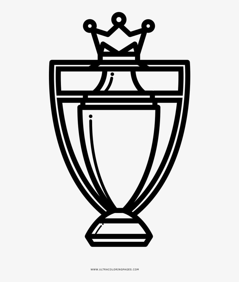 Premier League Trophy Coloring Page.