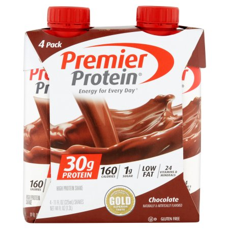 Premier Protein Chocolate High Protein Shakes, 11 fl oz, 4 count.