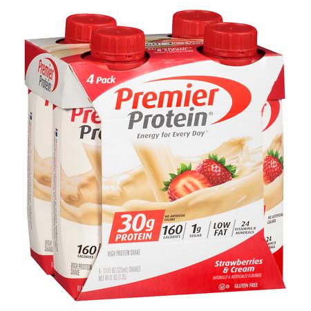 Premier Protein Shakes Strawberries & Cream.