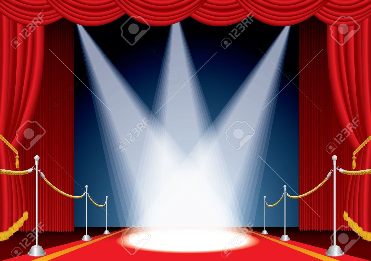 Premiere Curtain Clipart.