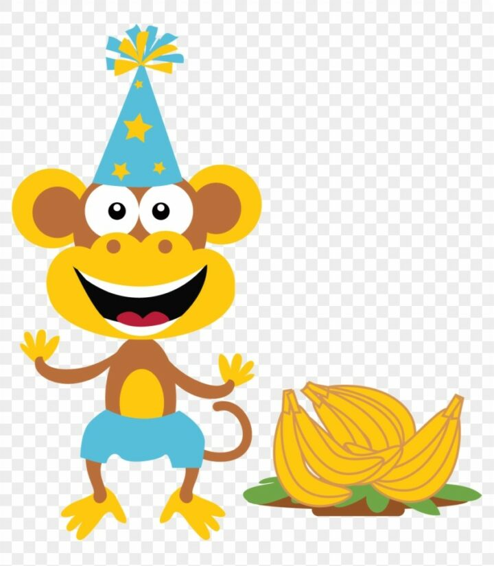 Boy Monkey Party Monkey PNG Image Vector And Clipart.