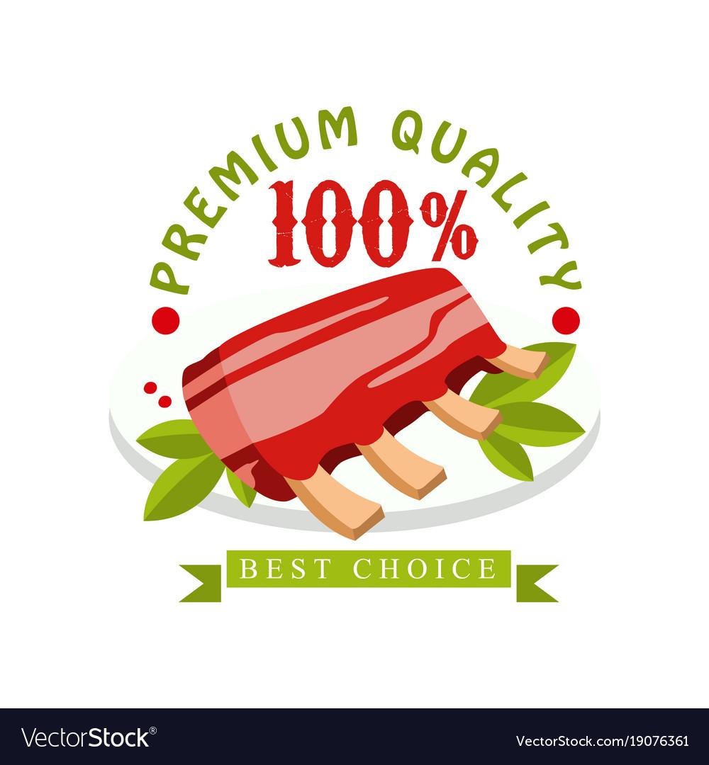 Premium quality 100 percent best choice logo.
