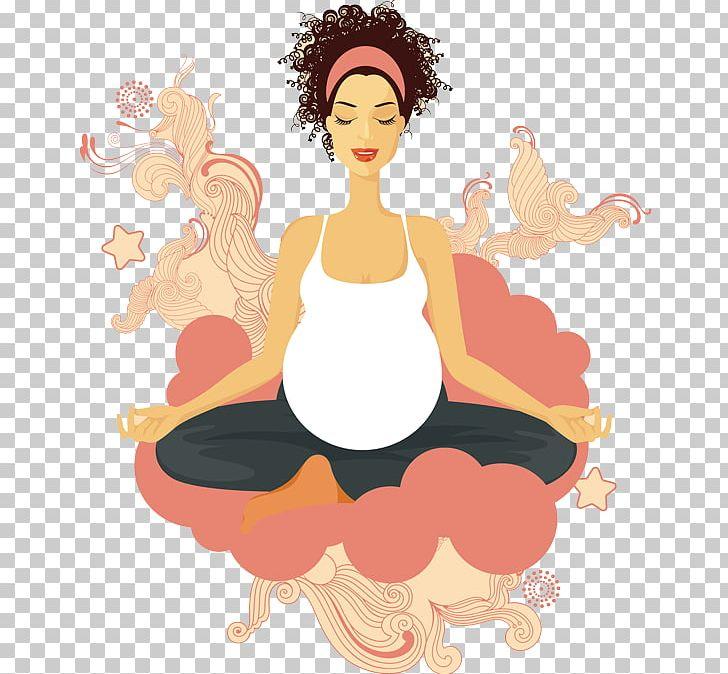 Pregnancy Yoga Prenatal Care Cartoon PNG, Clipart, Art.
