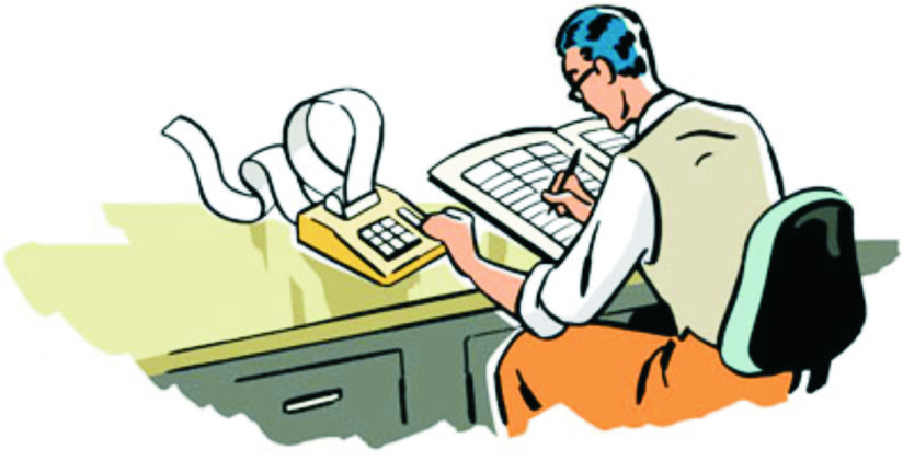 Tax preparation clipart.