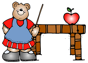 Teacher Preparing For School Clipart.