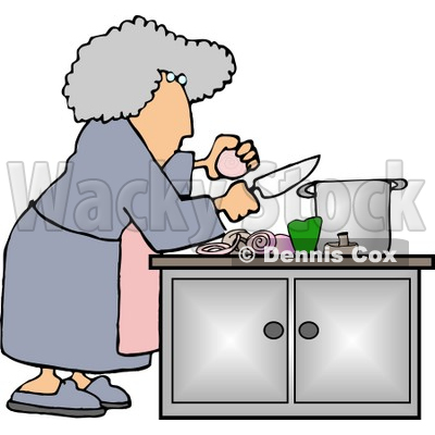 Food Preparation Clipart by Dennis Cox.