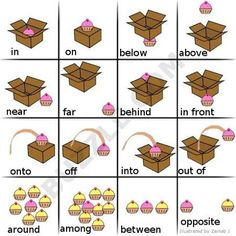 Prepositions Of Place Clipart.