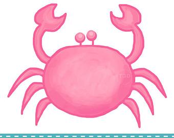 Preppy crab clip art Etsy.