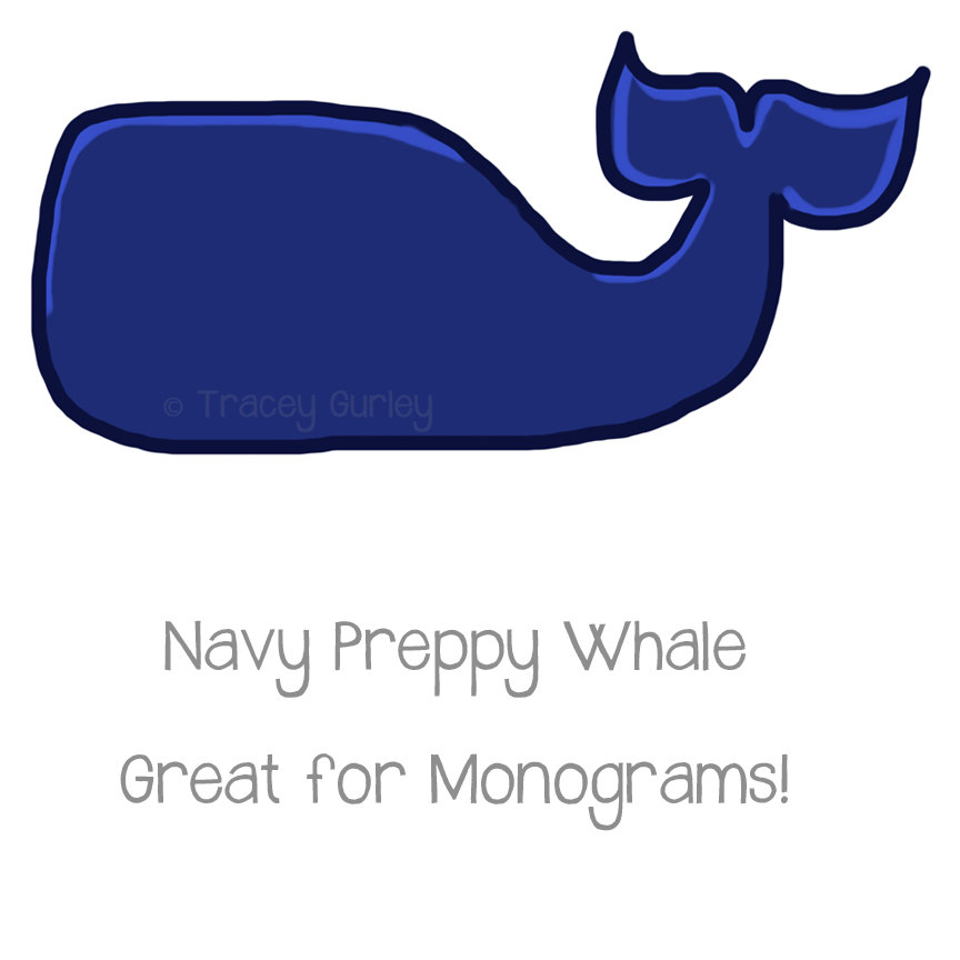 Preppy Navy Whale Original Art download by.