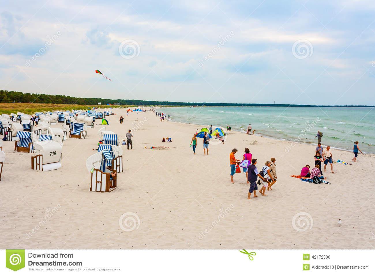 Beach In Prerow Editorial Photo.