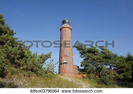 "Stock Photo of ""Lighthouse Darsser Ort near Prerow, Darss, Bodden."