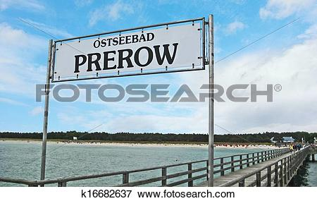 Picture of Prerow pier sign k16682637.