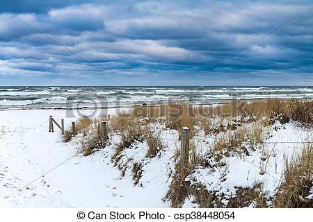 Stock Bilder von Winter, prerow, kueste, (germany), meer, Zeit.