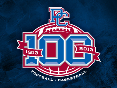 100 Year Anniversary Presbyterian College Athletics Logo by.
