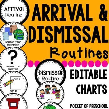 Use an arrival and dismissal routine chart as a visual.