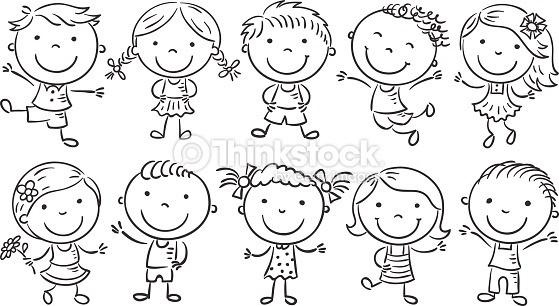 Preschool Children Clipart Black And White.