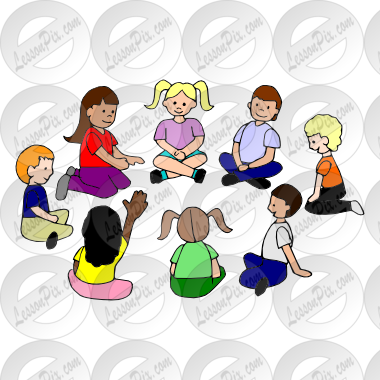 Circle Time Picture for Classroom / Therapy Use.