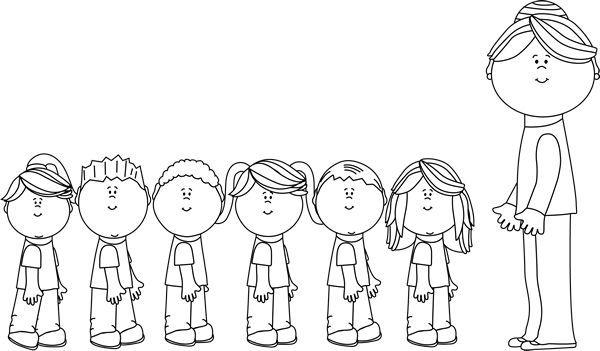Preschool children clipart black and white 1 » Clipart Portal.