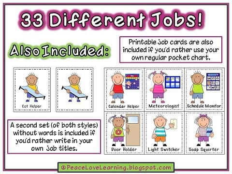 preschool classroom job chart clipart #3