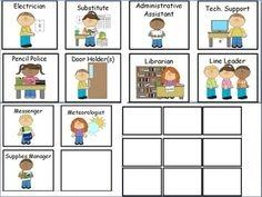 preschool classroom job chart clipart #2