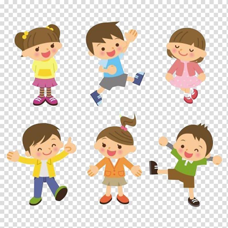 Children , Child Cartoon St Basils Preschool, happy children.