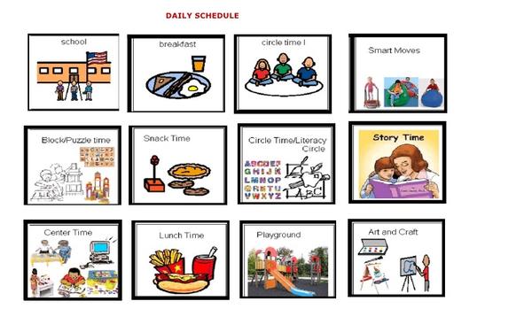 Free Preschool Schedule Clipart.