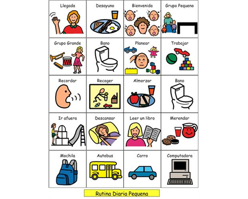 Preschool Daily Routine (Spanish).