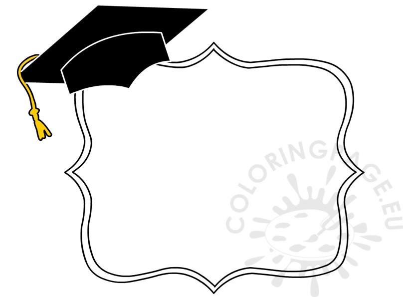 Graduation Decorative Border Preschool Clipart.