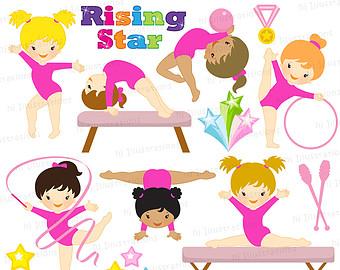 Preschool Gymnastics Clipart.