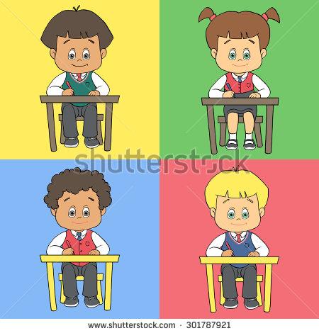 Preschool Table Set Clipart.