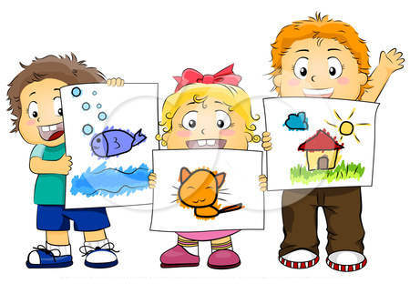 Art For Kids Clipart Preschool Tired.