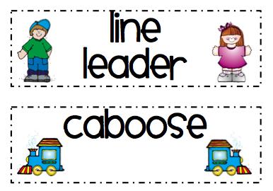 line leader printables.