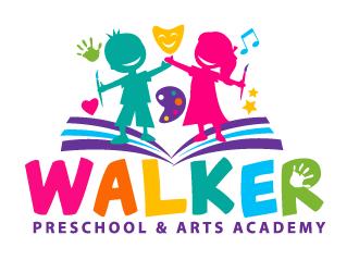 Walker Preschool & Arts Academg logo design.