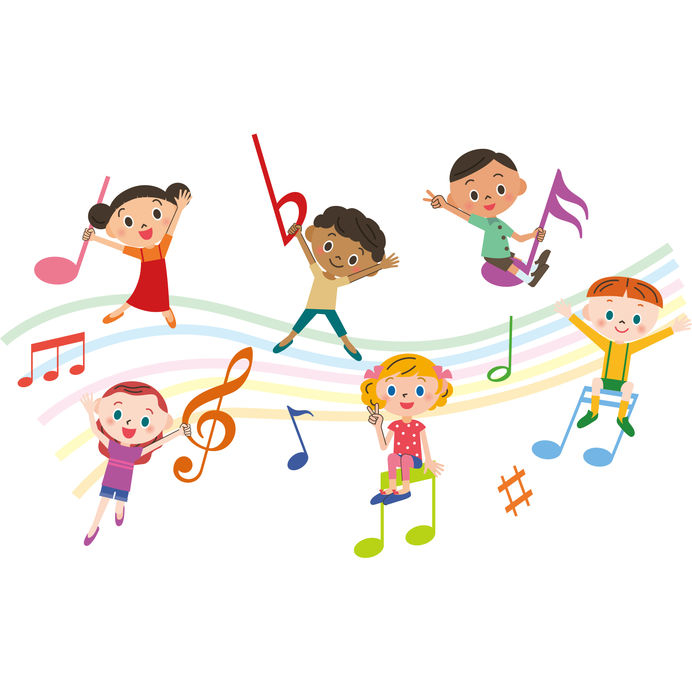 Preschool Music And Movement Clipart.