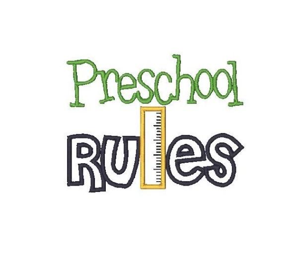 Preschool Rules Clipart.