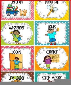 Preschool Jobs Clipart.