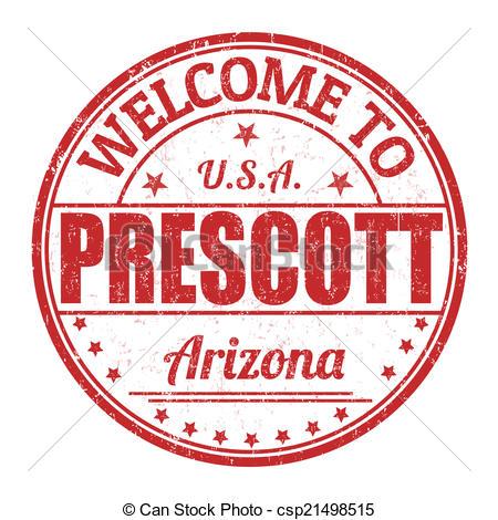 Vector Clip Art of Welcome to Prescott stamp.