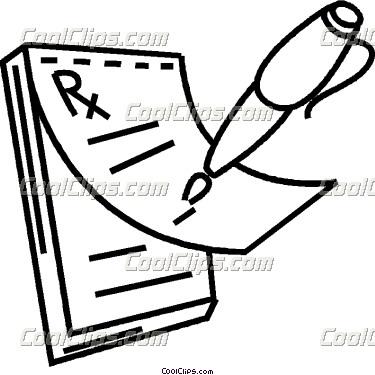 Prescribing Medicine Clip Art.
