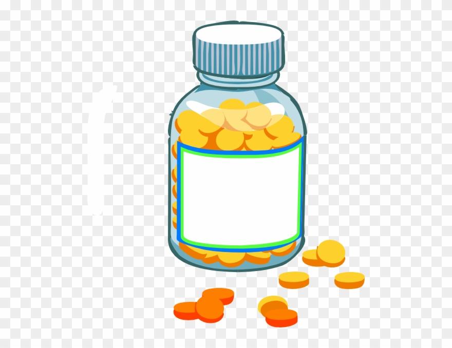 Transparent Background Pill Bottle Clipart.