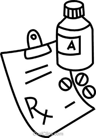 Prescription image clipart.