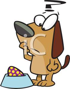 Art Image: A Dog Questioning the Presence of a Spotted Egg In His.