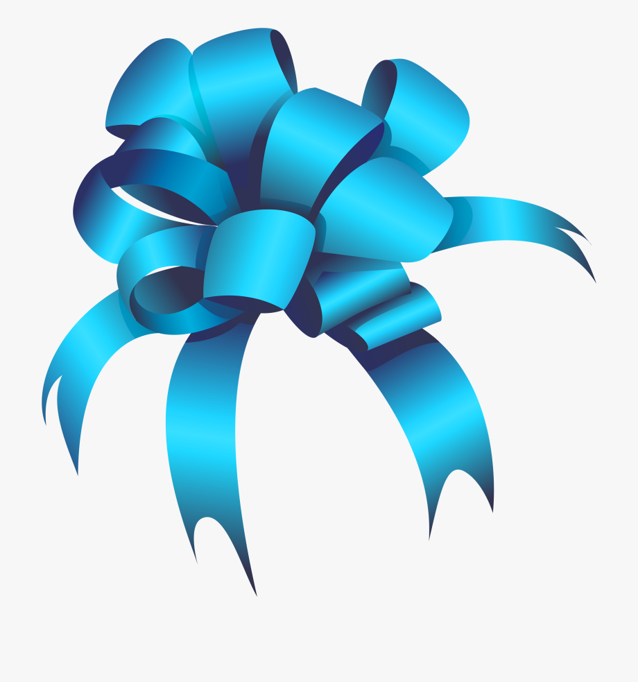 Blue Bow Png Clipart.