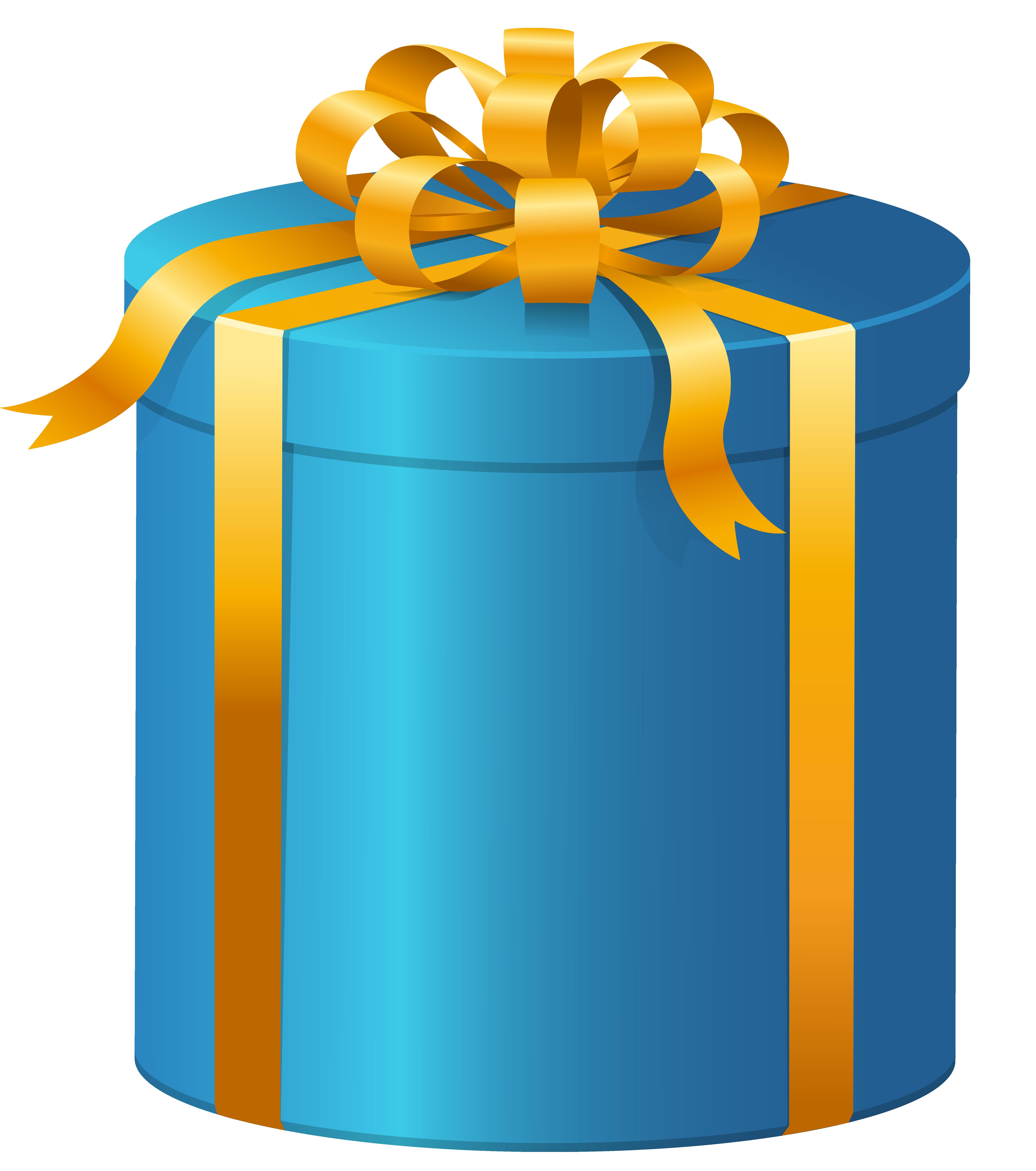 Blue Present Box PNG Clip Art.